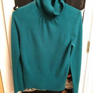 Turquoise turtle neck sweater